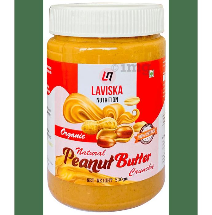 Laviska Nutrition Organic Natural Peanut Butter Crunchy