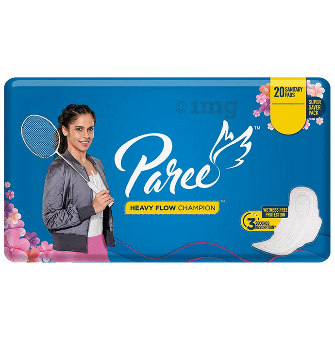 Paree Heavy Flow Champion Wetness Free Protection Sanitary Pads