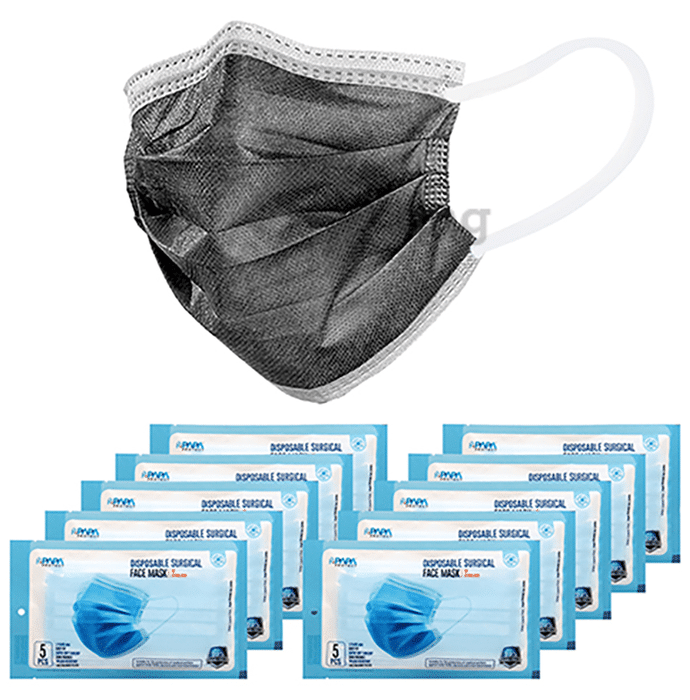 Papa Protect Disposable Surgical Face Mask (5 Each) Black