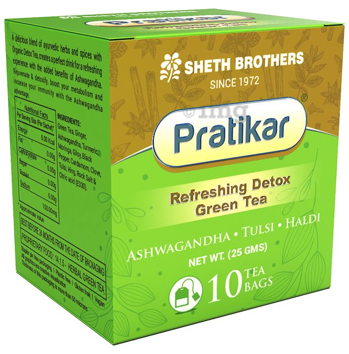 Pratikar Refreshing Detox Green Tea Bag (2.5gm Each)