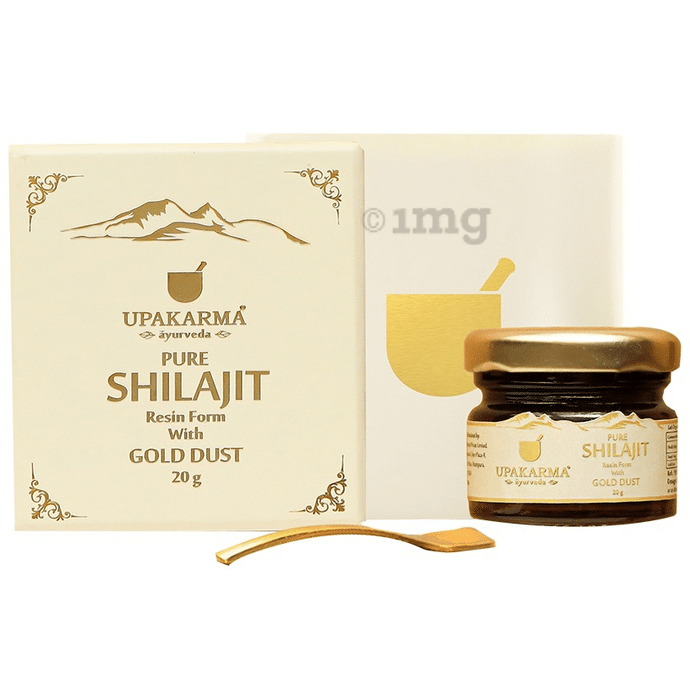Upakarma Ayurveda Pure Shilajit Resin Form with Gold Dust