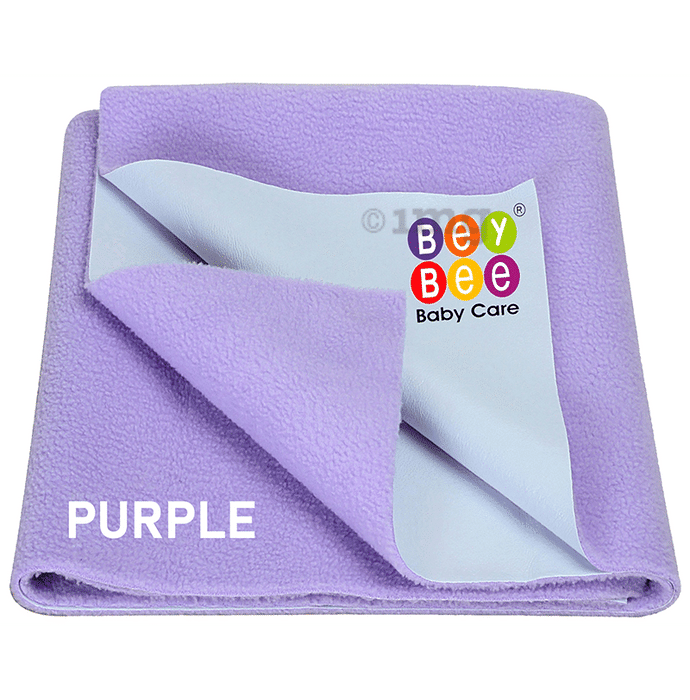 Bey Bee Waterproof Mattress Protector Sheet for Babies and Adults (140cm X 100cm) Large Violet