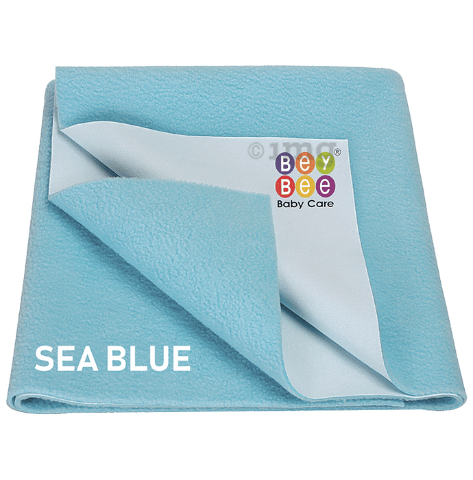 Bey Bee Waterproof Mattress Protector Sheet for Babies and Adults (140cm X 100cm) Large Sea Blue