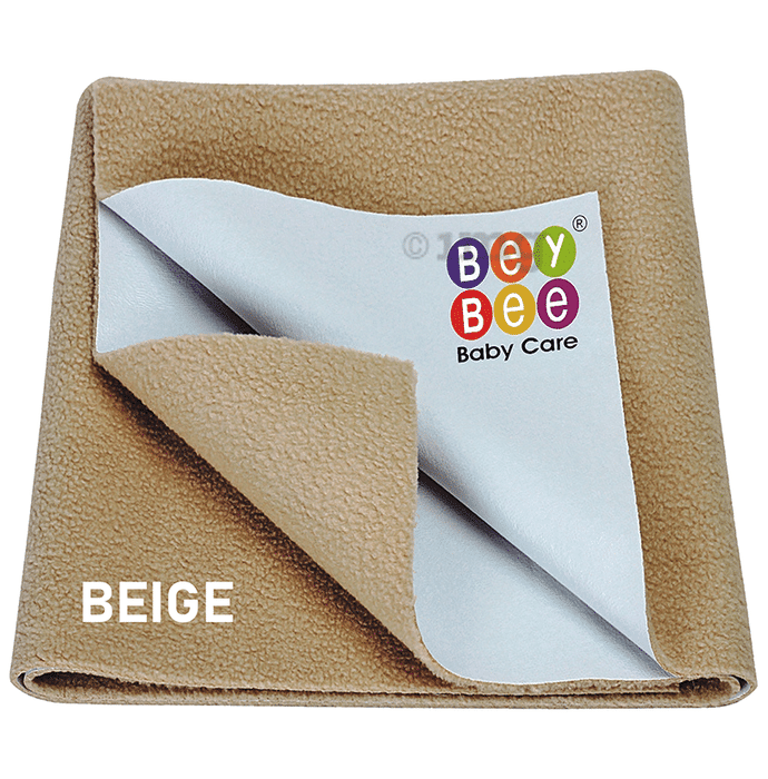 Bey Bee Waterproof Mattress Protector Sheet for Babies and Adults (140cm X 100cm) Large Beige