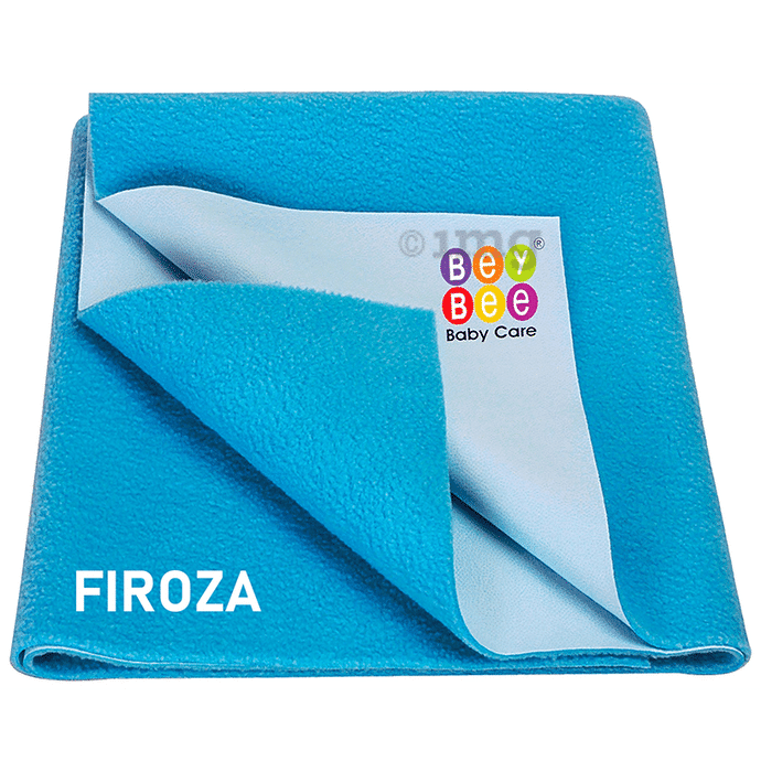 Bey Bee Waterproof Mattress Protector Sheet for Babies and Adults (140cm X 100cm) Large Firoza