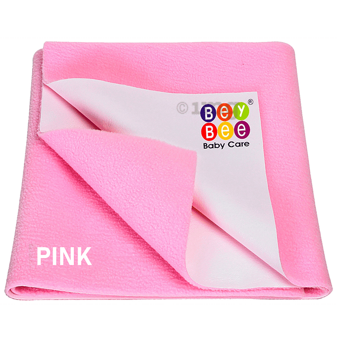 Bey Bee Waterproof Mattress Protector Sheet for Babies and Adults (140cm X 100cm) Large Pink