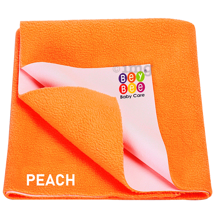 Bey Bee Waterproof Mattress Protector Sheet for Babies and Adults (140cm X 100cm) Large Peach