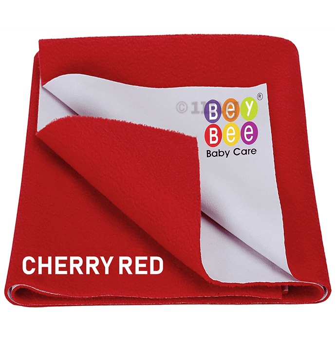 Bey Bee Waterproof Mattress Protector Sheet for Babies and Adults (140cm X 100cm) Large Red