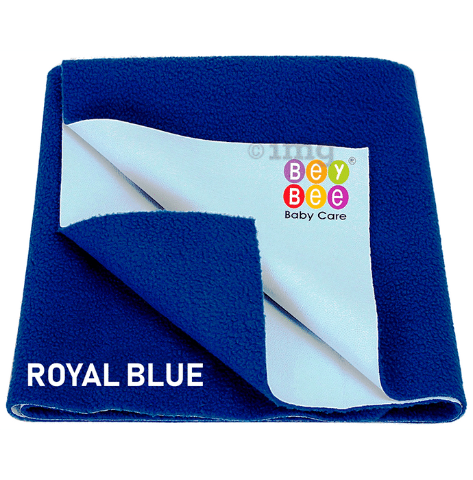 Bey Bee Waterproof Mattress Protector Sheet for Babies and Adults (140cm X 100cm) Large Royal Blue