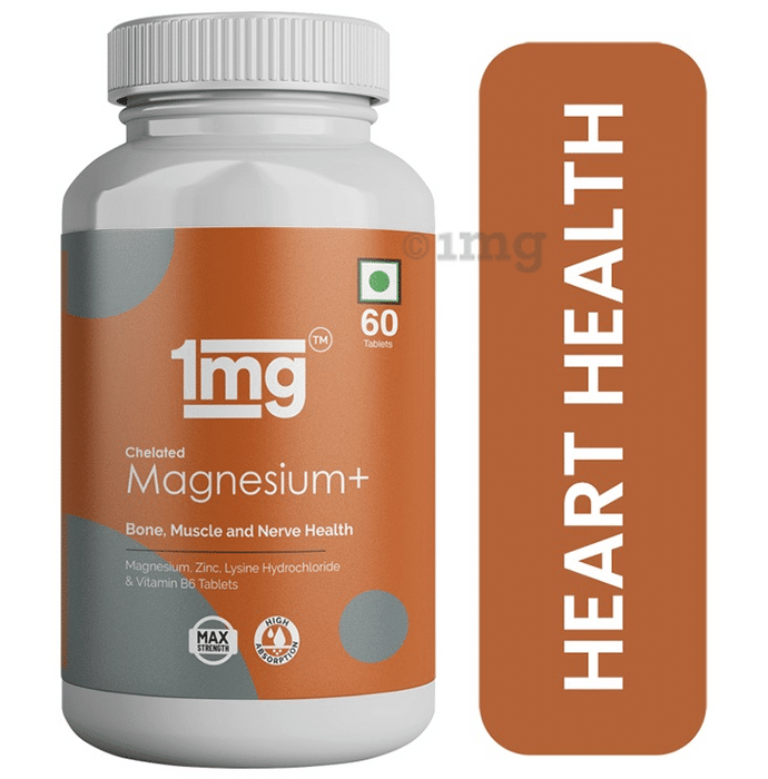 1mg Chelated Magnesium Plus Zinc, Lysine Hydrochloride & Vitamin B6 with High Absorption Tablet