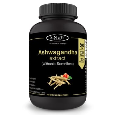 Sinew Nutrition Ashwagandha General Wellness 500mg Tablet