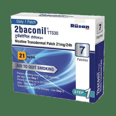 2baconil 21mg Nicotine Transdermal Patch Step 1