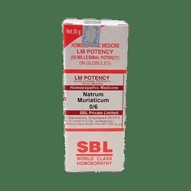 SBL Natrum Muriaticum 0/6 LM