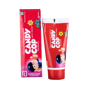 Candy Cop Foaming Fluoridated Toothpaste Bubblegum