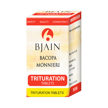 Bjain Bacopa Monnieri Trituration Tablet 3X