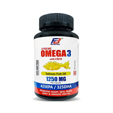 FB Nutrition Xtreme Omega 3 with CQ10 1250mg Softgel