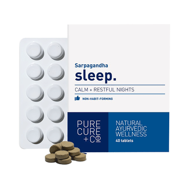 Pure Cure Sarpagandha Sleep Tablet