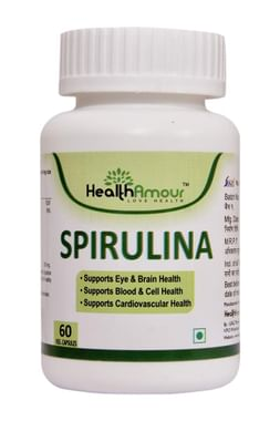 HealthAmour Spirulina Veg Capsule