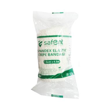Safent Spandex Elastic Crepe bandage 7.5cm x 4.5m