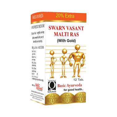 Basic Ayurveda Swarn Vasant Malti Ras with Gold