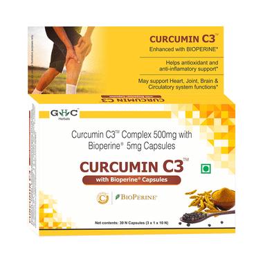GHC Herbals Curcumin C3 with Bioperine Capsule