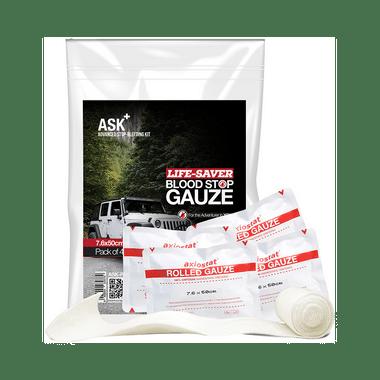 ASK+ Life-Saver Blood Stop Gauze 7.60x50cm for 4 Wheeler