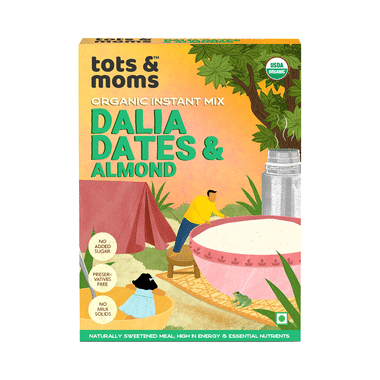 Tots and Moms Organic Instant Mix 8 Month+ Dalia Dates & Almond