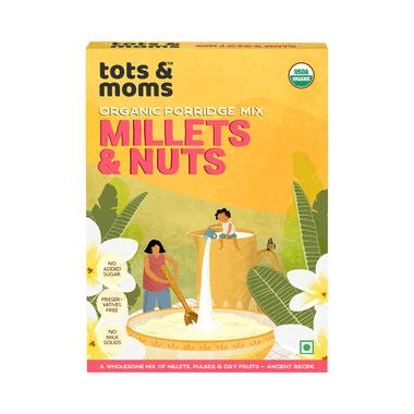 Tots and Moms Organic Porridge Mix 8 Month+ Millets & Nuts